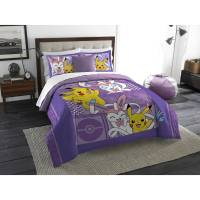 Pokemon Lavender Chu Twin/Full Bedding Comforter Set ...