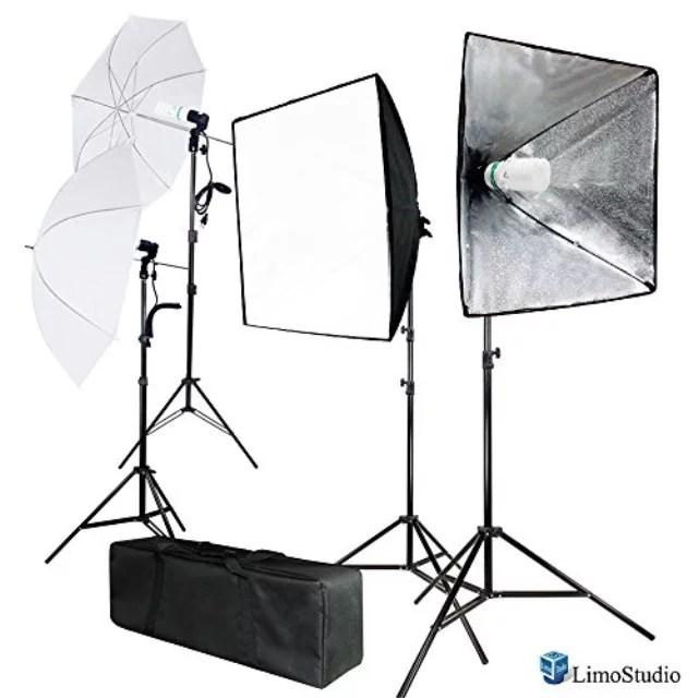 limostudio 700w photo softbox lighting kit studio light diffuser reflector 24 x 24 inch photo equipment carry bag photography studio agg2138