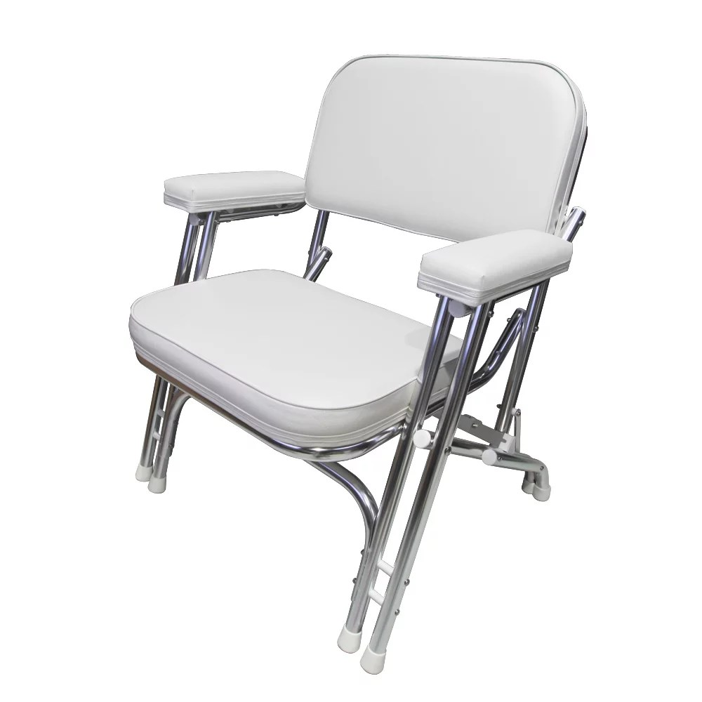 marine deck chairs cheap upholstered leader accessories folding chair with aluminum frame armrests portable walmart com