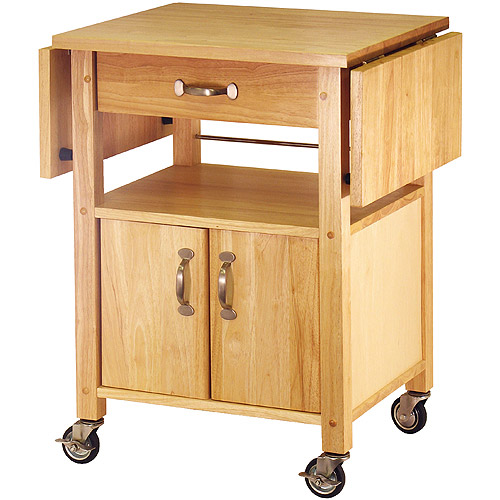 drop leaf kitchen cart boos block island winsome wood rachael utility natural finish walmart com