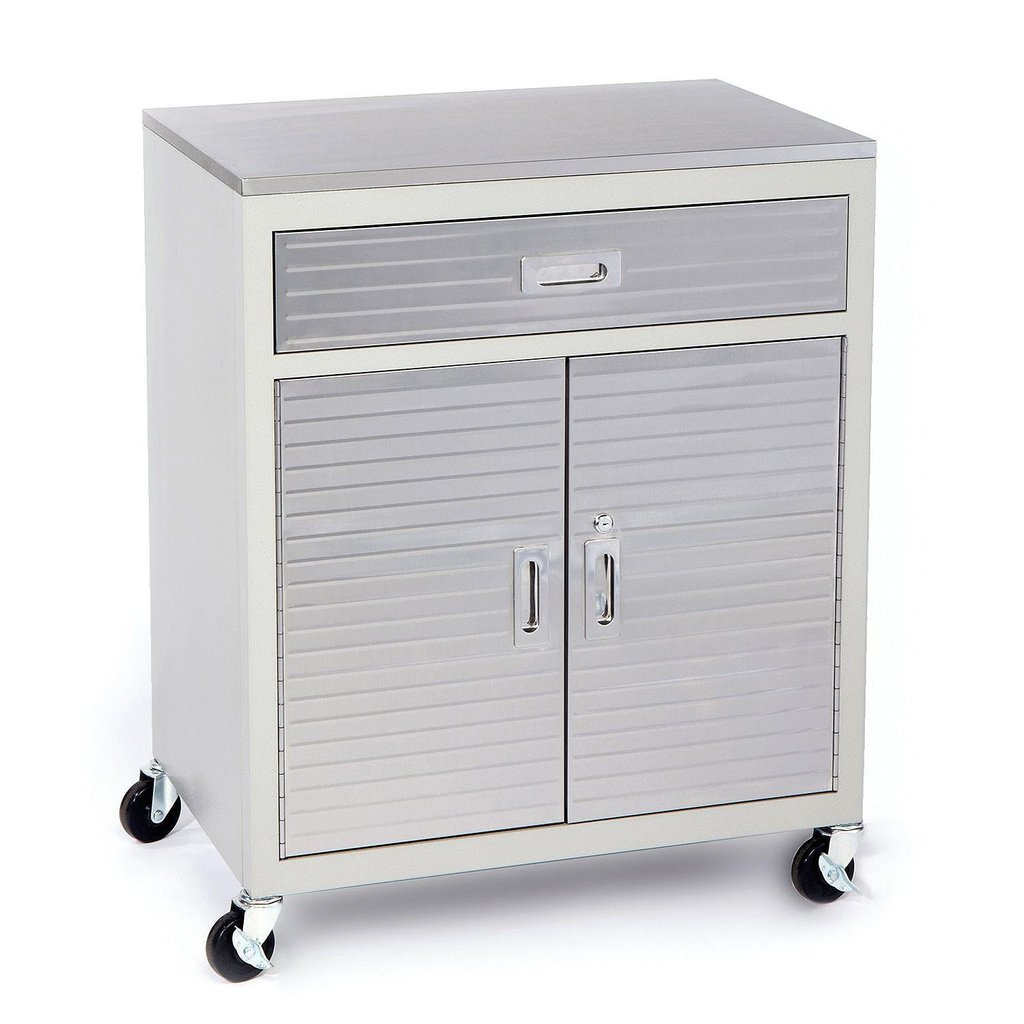 Seville Classics Ultrahd One Drawer Cabinet Stainless