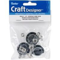 Retractable Badge Holder: Metal, Silver, 3 Pack - Walmart.com