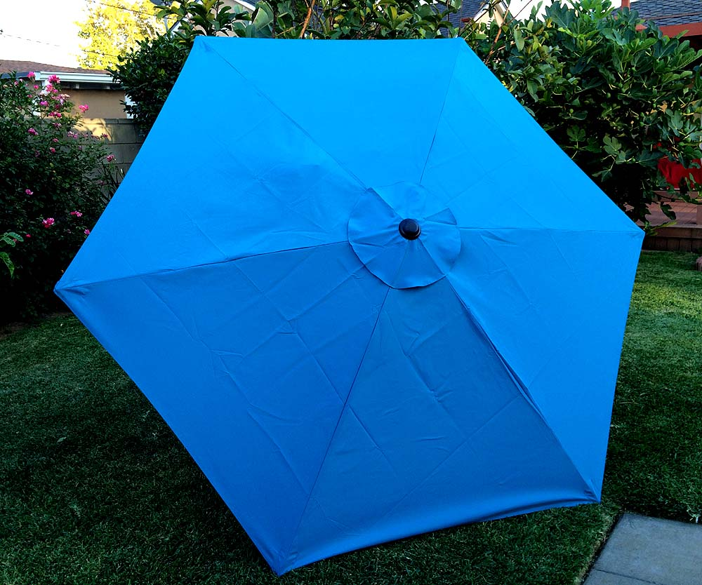 bellrino decor replacement strong thick umbrella canopy for 7 5 ft 6 ribs canopy only lake blue walmart com