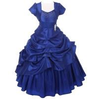 Chic Baby Royal Blue Layered Bolero Pageant Dress Set ...