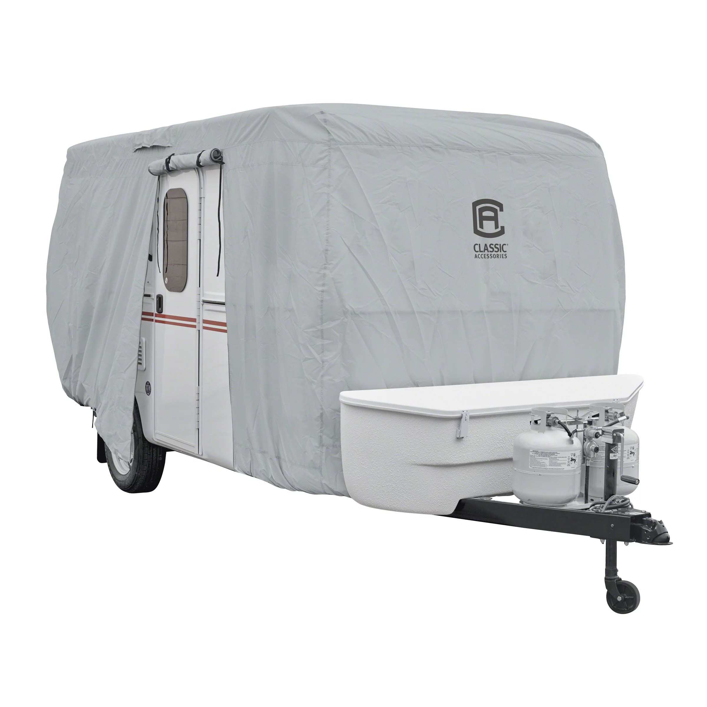 Classic Accessories OverDrive PermaPRO Deluxe Molded Fiberglass Travel Trailer Cover Fits up