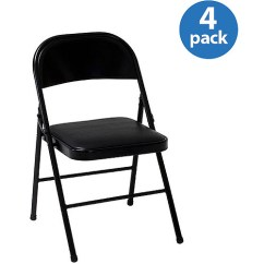 Walmart Fold Out Chair Office Rollerblade Wheels Mainstays Vinyl Folding In Black Color Com