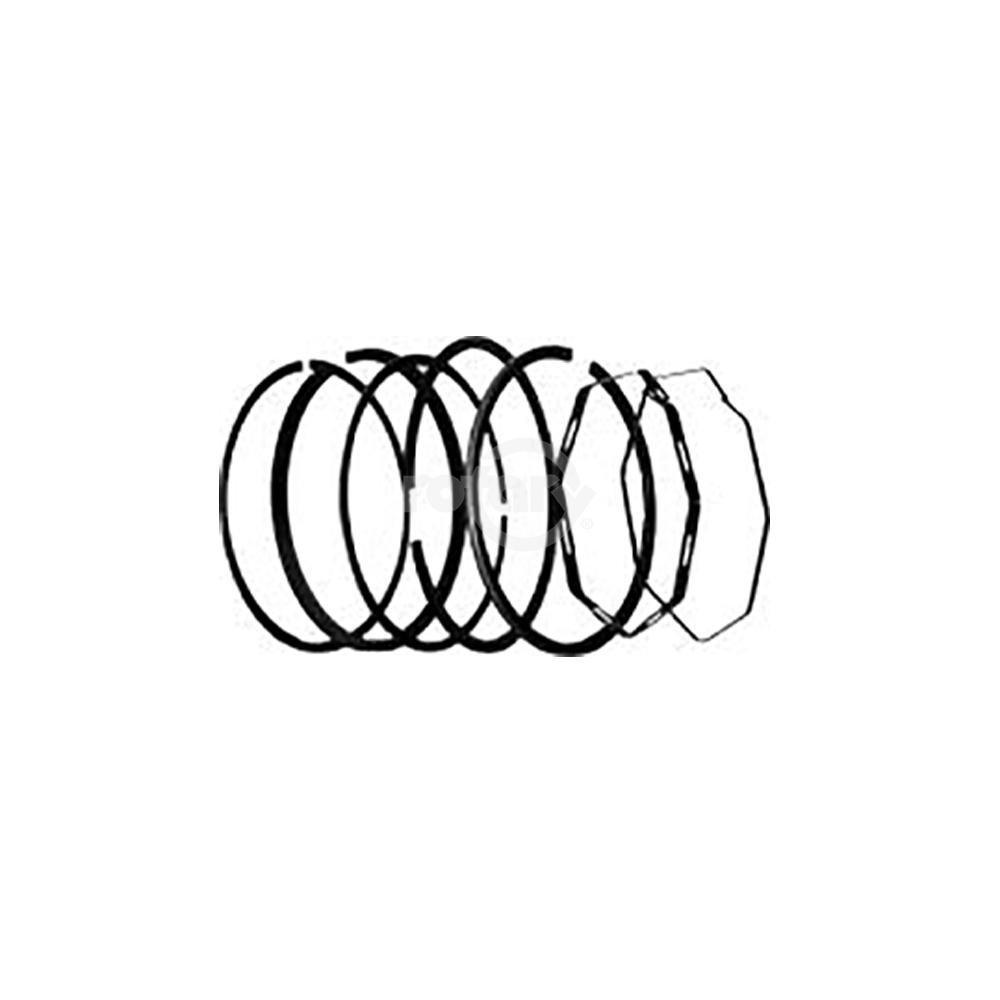 Chrome Piston Ring Set replaces Kohler 232575S. Fits 8 HP