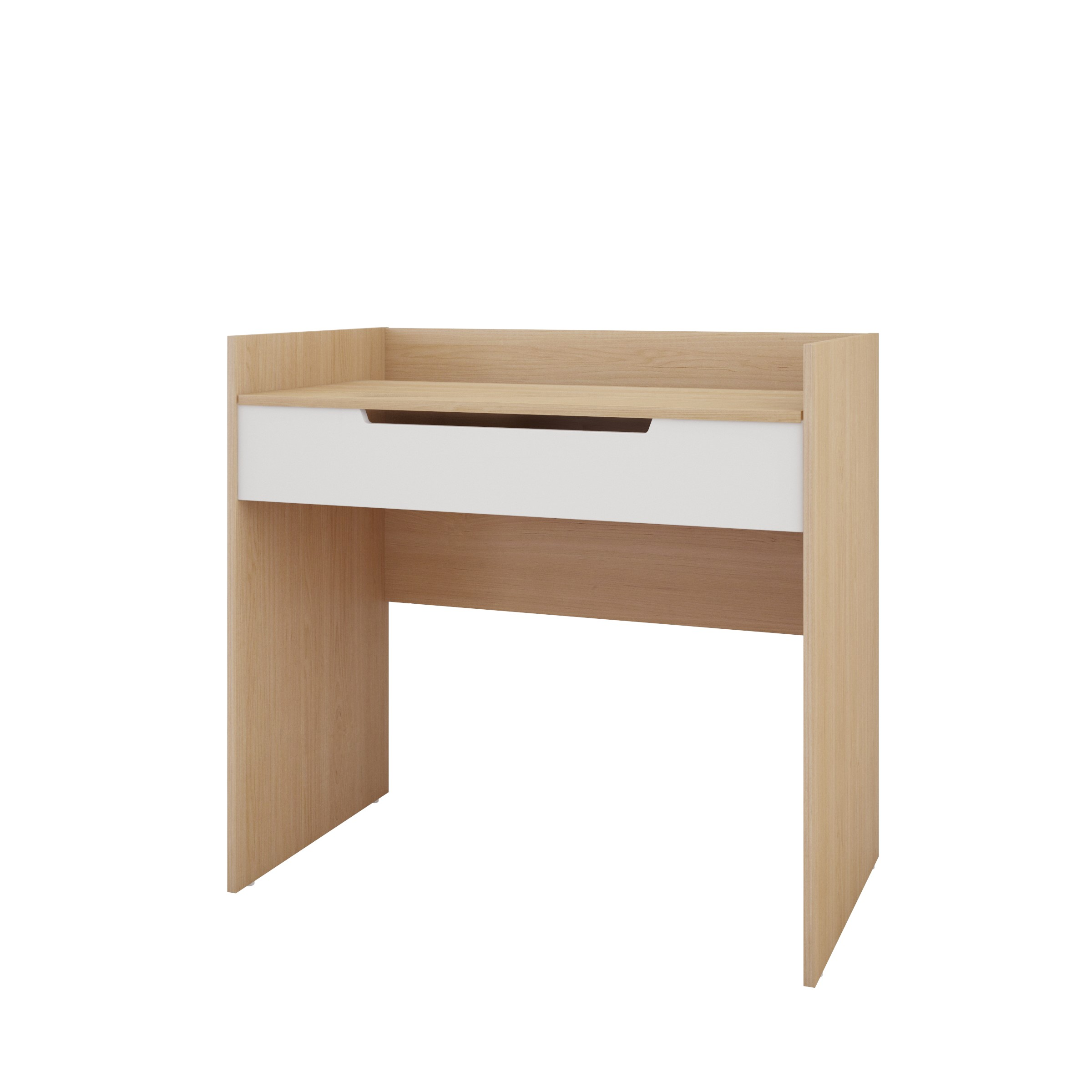 Nexera Kabane VanityDesk White and Natural Maple