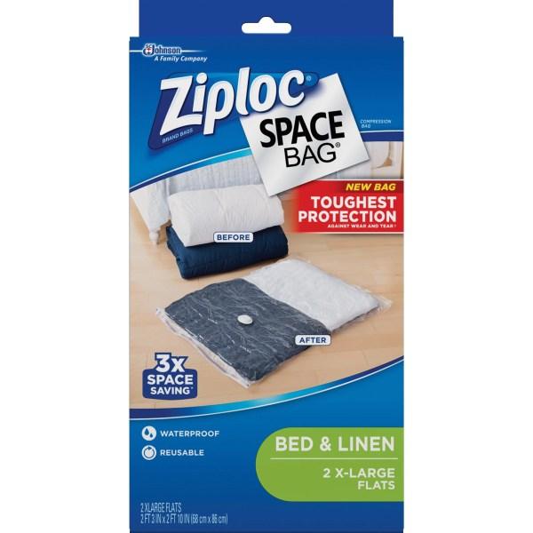 Ziploc Extra Large Space Bag Vacuum Seal Bags 2-piece