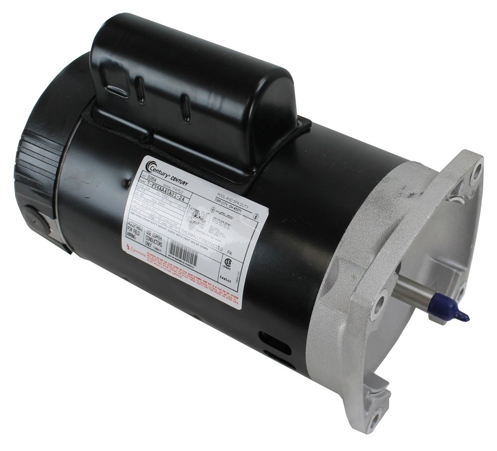 medium resolution of a o smith century b2854 up rate 1 5hp square flange pool spa replacement motor walmart com