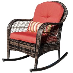 Rattan Wicker Rocking Chair Cushion The Portable High Sundale Outdoor Patio Yard Furniture All Weather With Cushions Walmart Com