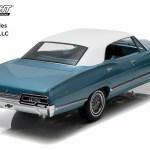1 18 Artisan Collection 1967 Chevrolet Impala Sport Sedan Nantucket Blue With White Top Walmart Com Walmart Com