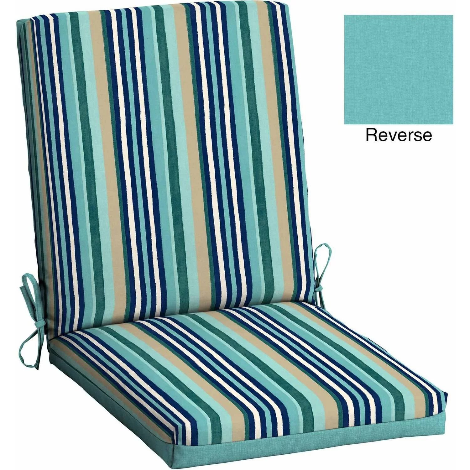turquoise patio chairs awesome desk mainstays outdoor reversible dining chair cushion departments