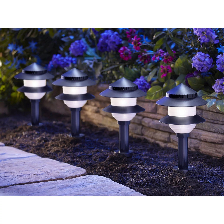 hight resolution of moonrays low voltage 4 watt 12 volt 2 tier path lighting kit 10 pack walmart com