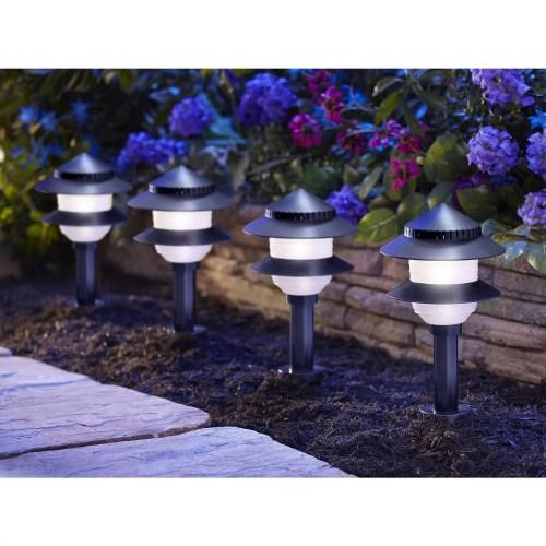 small resolution of moonrays low voltage 4 watt 12 volt 2 tier path lighting kit 10 pack walmart com