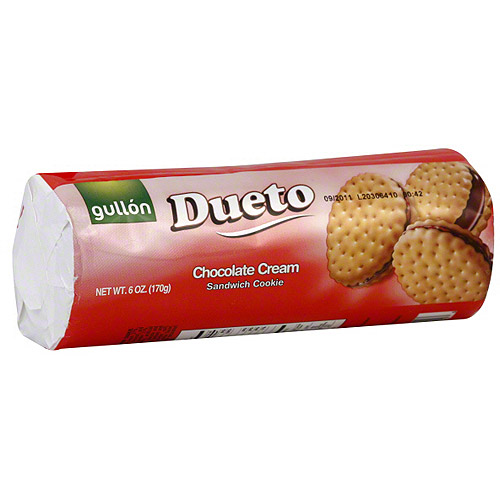 Gullon Dueto Chocolate Cream Sandwich Cookies 6 oz Pack