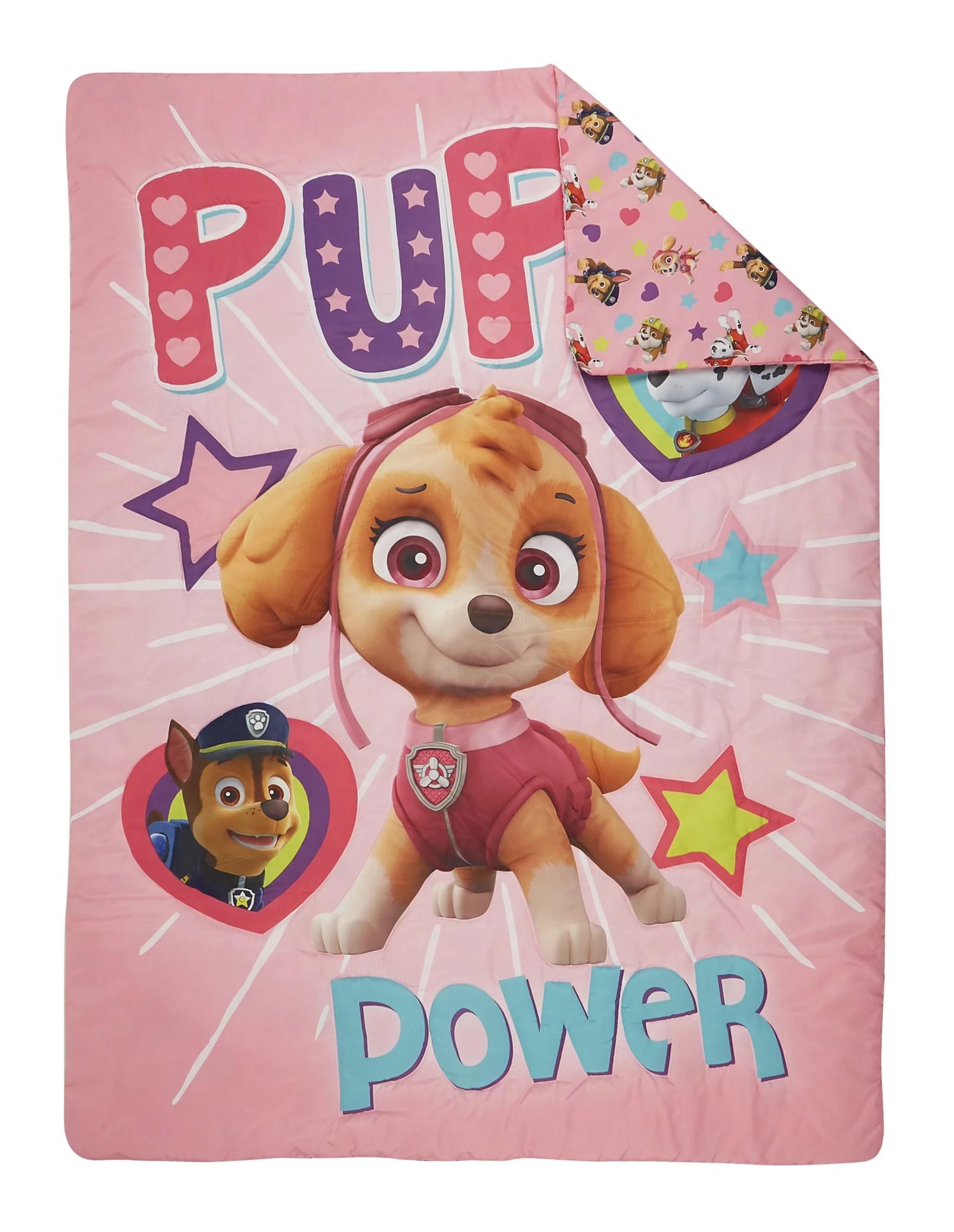 paw patrol skye toddler pillow toddler fleece blanket set walmart com