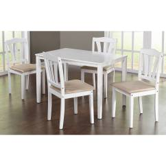 Walmart Tables And Chairs Chair Reviews Metropolitan 5 Piece Dining Set Multiple Colors Com