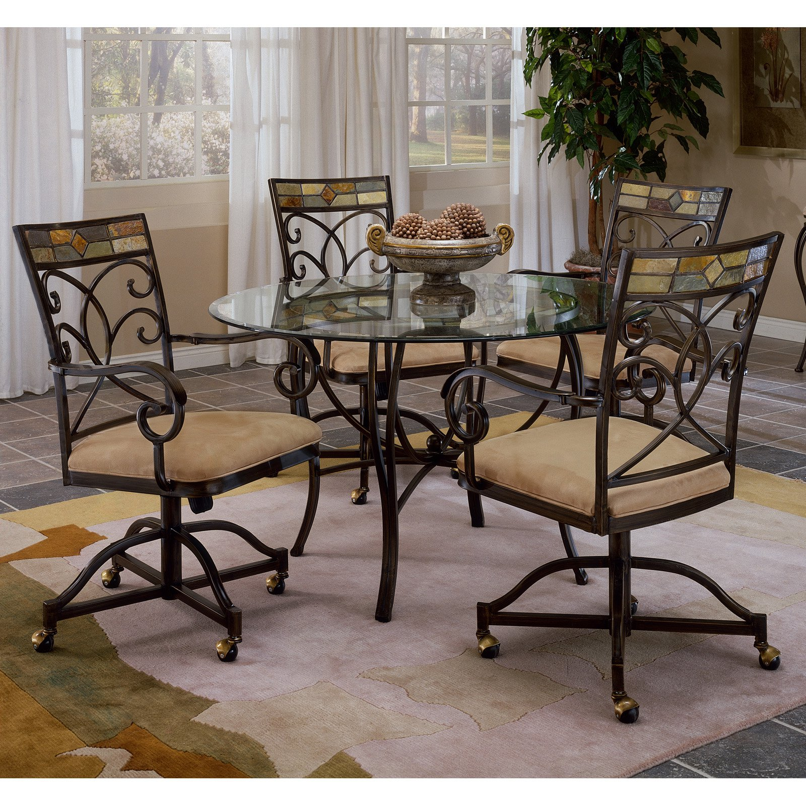 caster dining chairs ostrich beach hillsdsale pompeii chair set of 2 walmart com