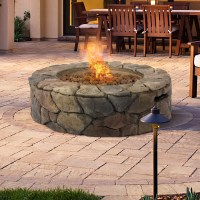 BCP Stone Design Fire Pit Outdoor Home Patio Gas Firepit ...