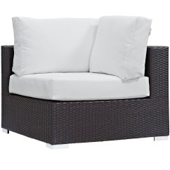Corner Lounge Chair Steel Images Modern Contemporary Urban Design Outdoor Patio Balcony White Rattan Walmart Com