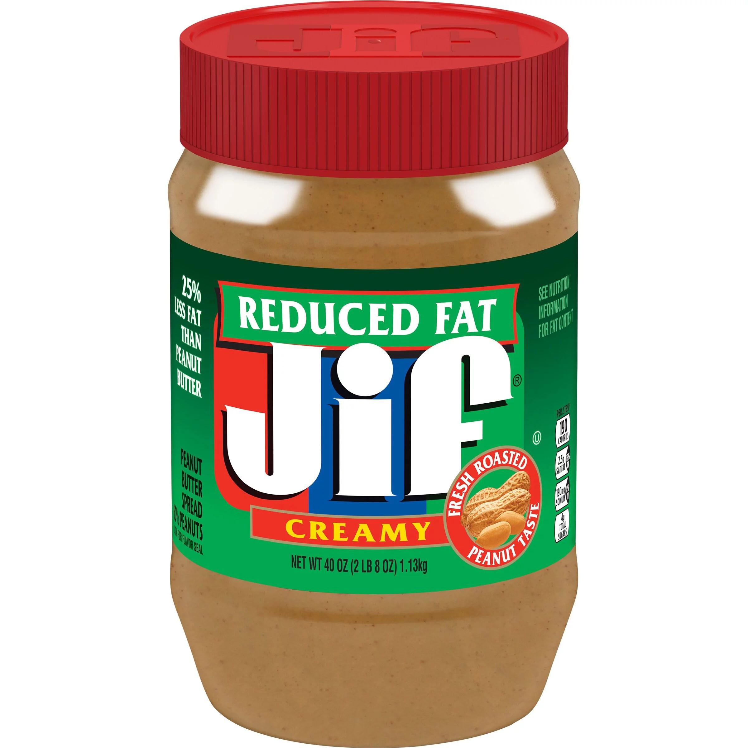 Jif Reduced Fat Creamy Peanut Butter Spread 40-Ounce ...