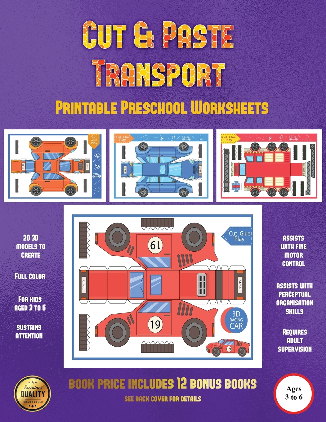 Printable Preschool Worksheets Cut And Paste Transport