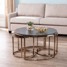 Lokyle Nesting Coffee Tables - 3pc Set Glam