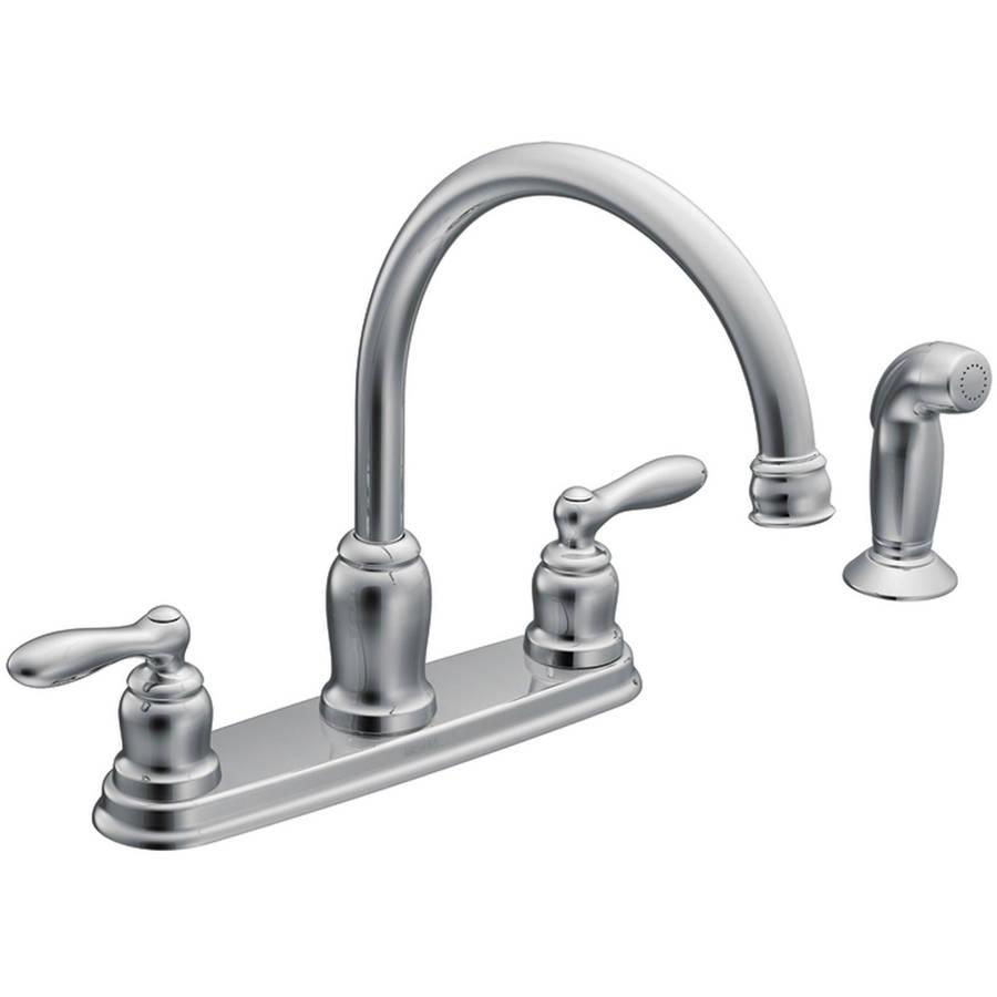 moen caldwell kitchen faucet staten island cabinets ca87888 chrome 2-handle high arc ...