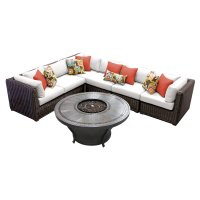 TK Classics Venice 7 Piece Outdoor Sectional Set with ...