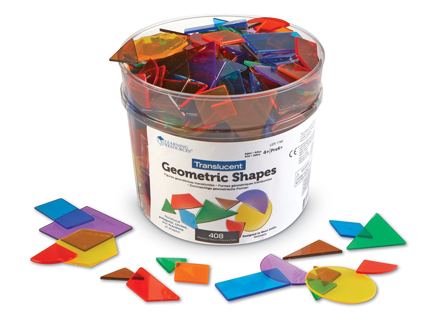 Learning Resources Translucent Geometric Shapes Geometry