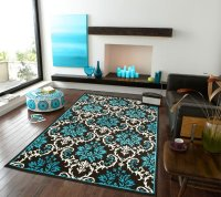Large Contemporary Area Rugs For Living Room Blue & Black ...