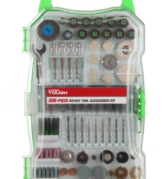 hyper tough 208 piece rotary tool accessory kit with storage case walmart com [ 2800 x 4256 Pixel ]