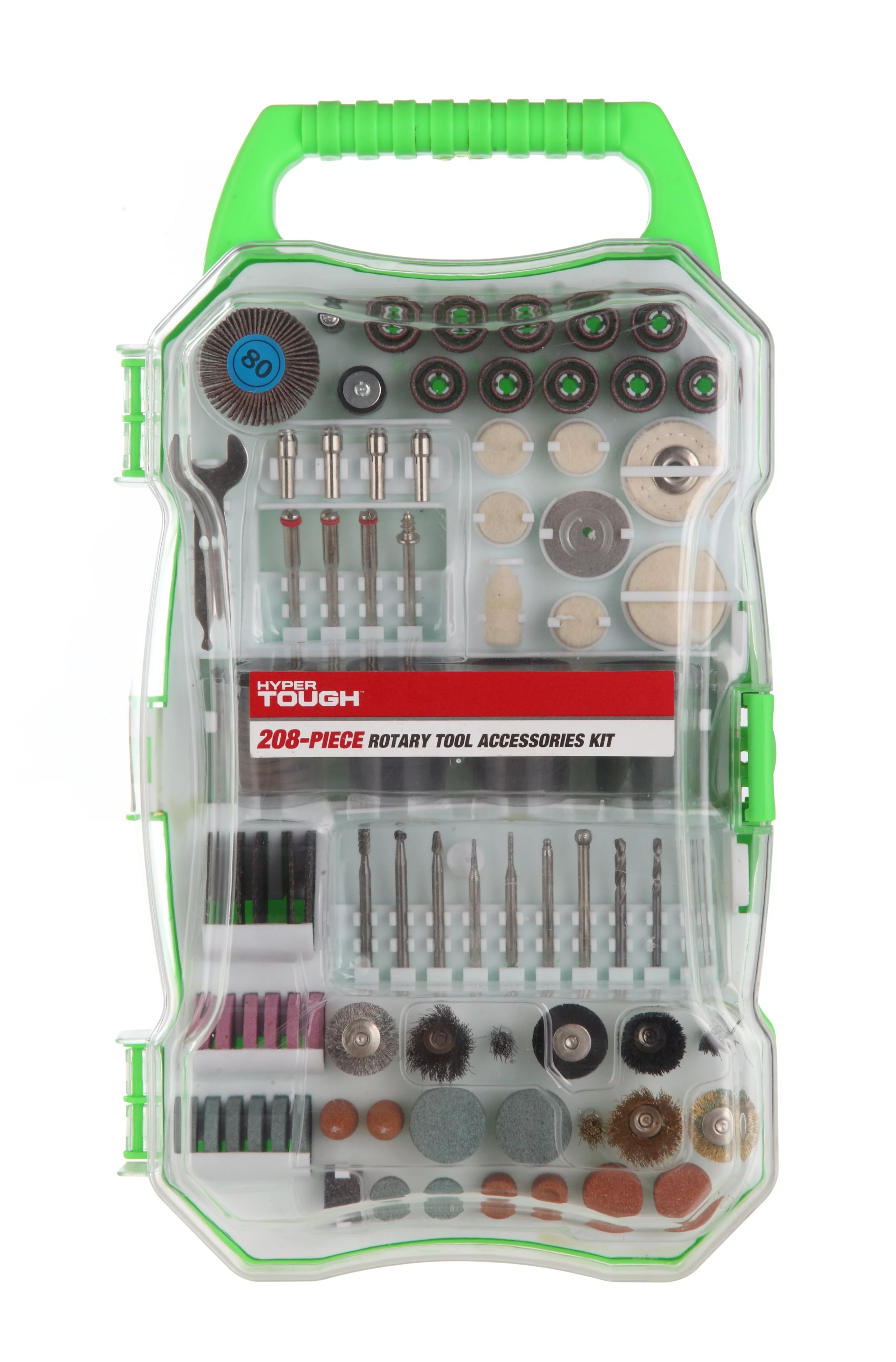 hight resolution of hyper tough 208 piece rotary tool accessory kit with storage case walmart com