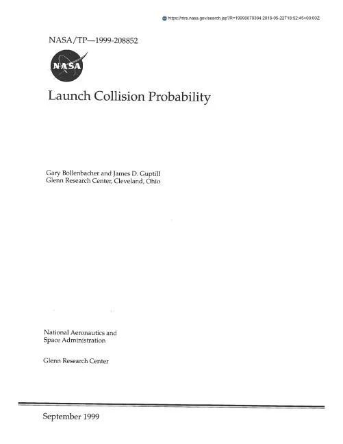 Launch Collision Probability (Paperback) - Walmart.com - Walmart.com