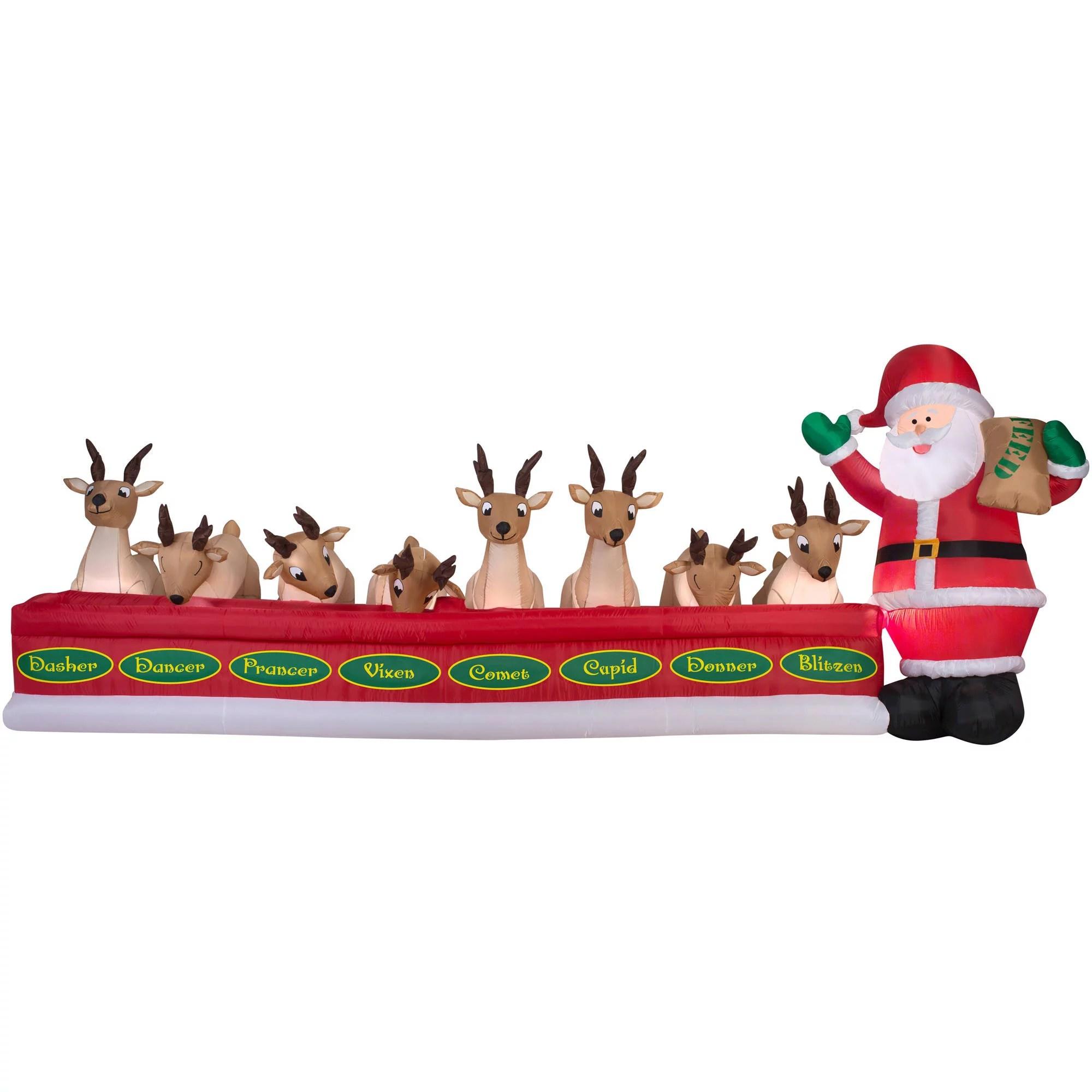 Airblown Inflatables Animated Santa Feeding Reindeer 16 5
