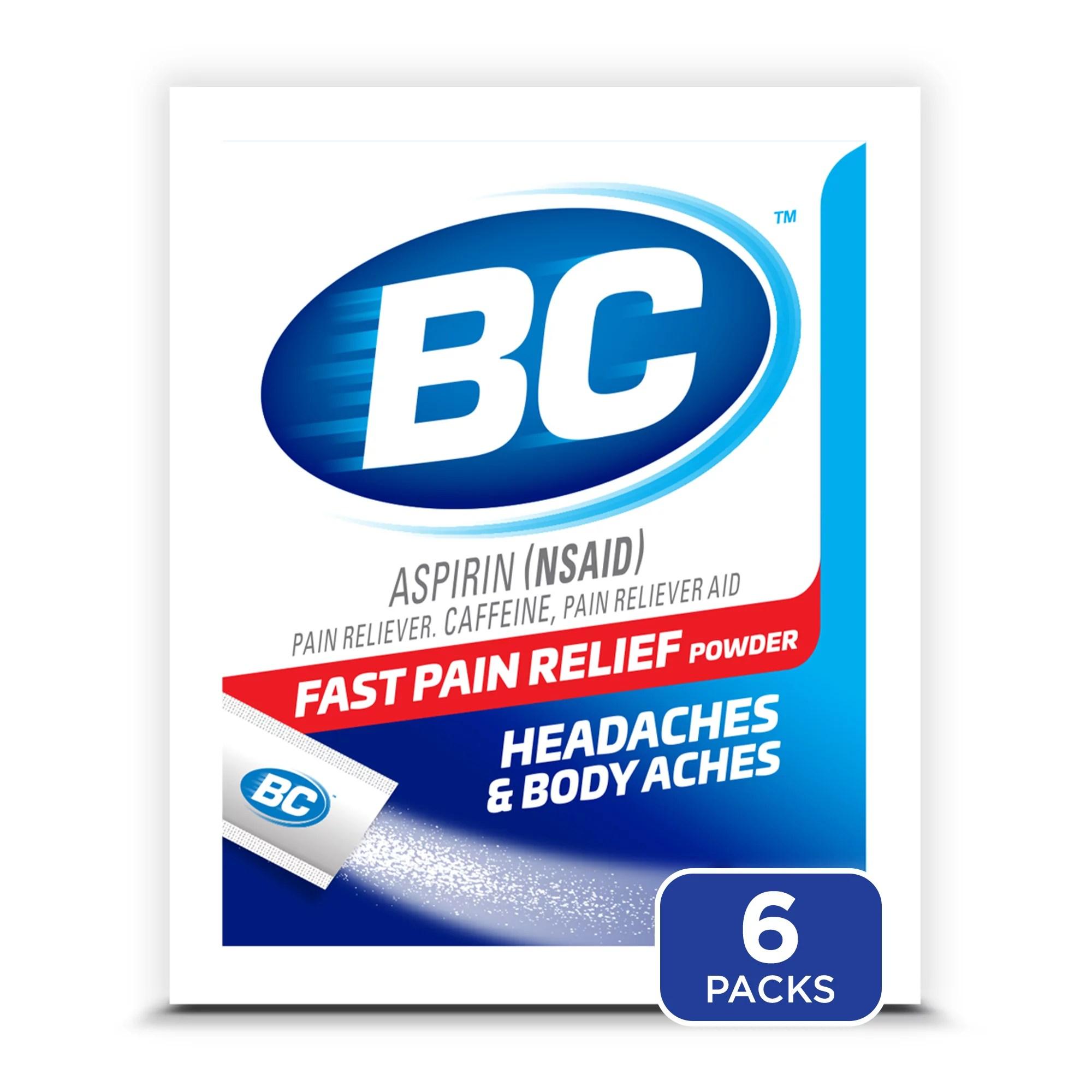 BC Powder Original Strength Pain Reliever 6 Powder Sticks ...