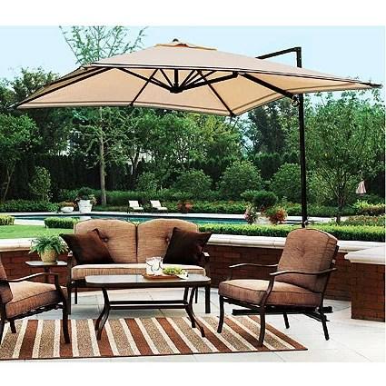 garden winds replacement canopy top for sand dune offset umbrella walmart com