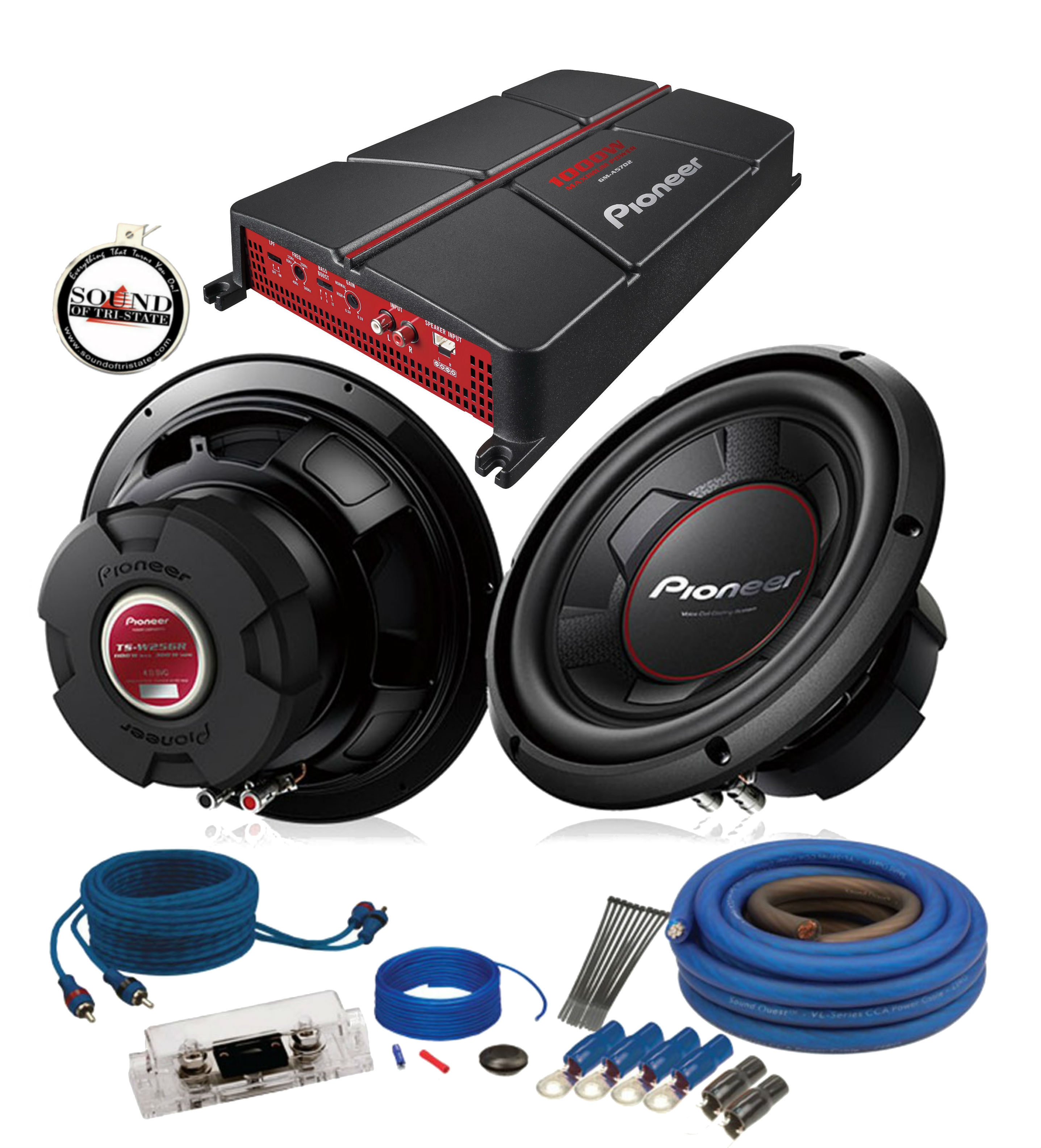 hight resolution of pioneer gm a5702 w two ts w256r amp wiring kit walmart com car audio wiring kit walmart