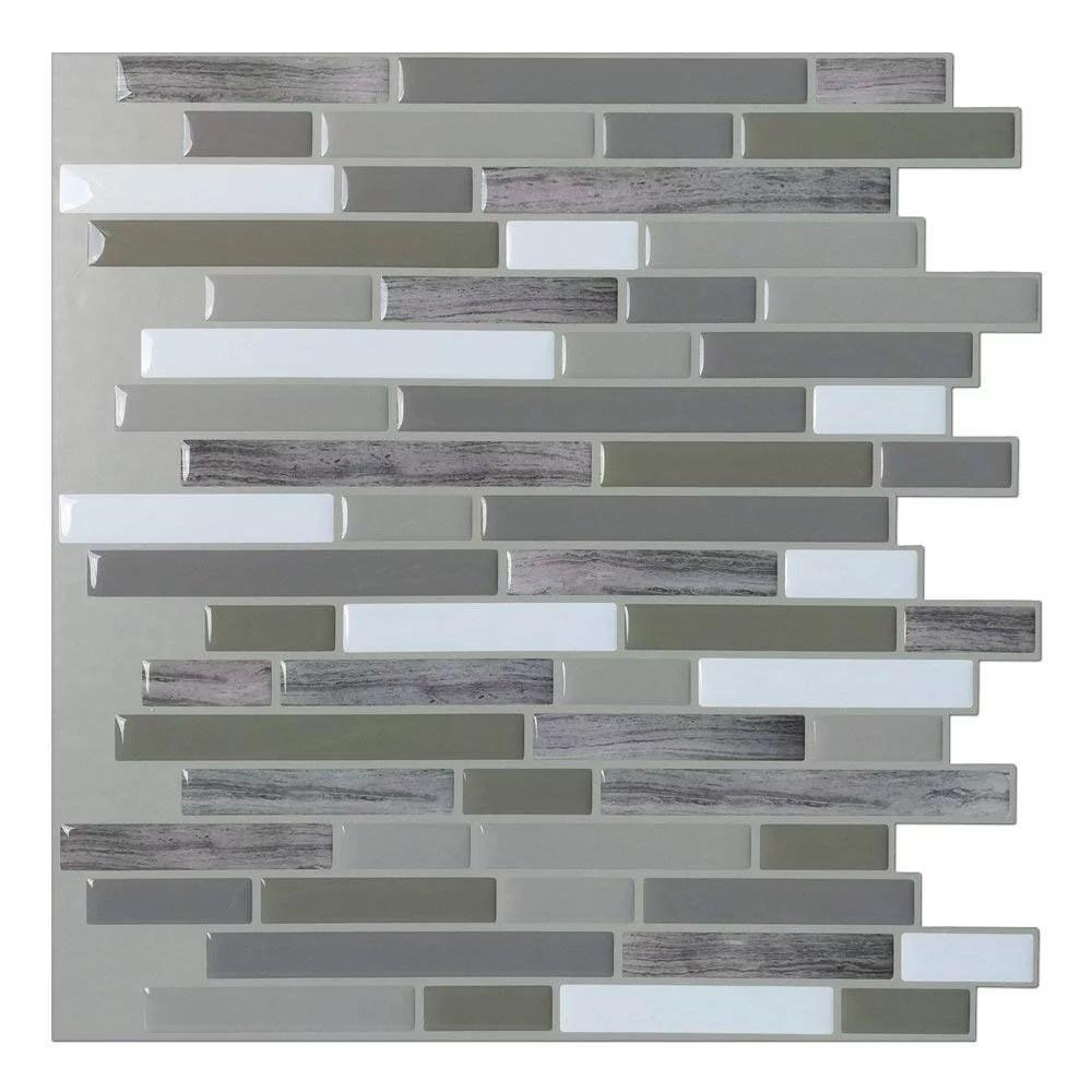 art3d peel and stick backsplash tile long stone wall tile for kitchen bathroom 12 x12 6 pack walmart com