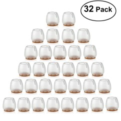 Caps For Chair Legs Desk Posture Best Nuolux Silicone Leg Feet Pads Furniture Table Covers Floor Protectors 25 29mm Round Cap 32pcs Pack Walmart Com