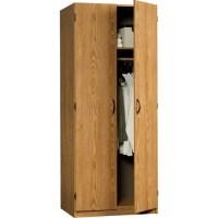 Sauder Beginnings Wardrobe / Storage Cabinet, Oregon Oak ...