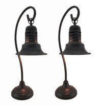 Set of 2 Industrial Vintage Style Hanging Table Lamps ...