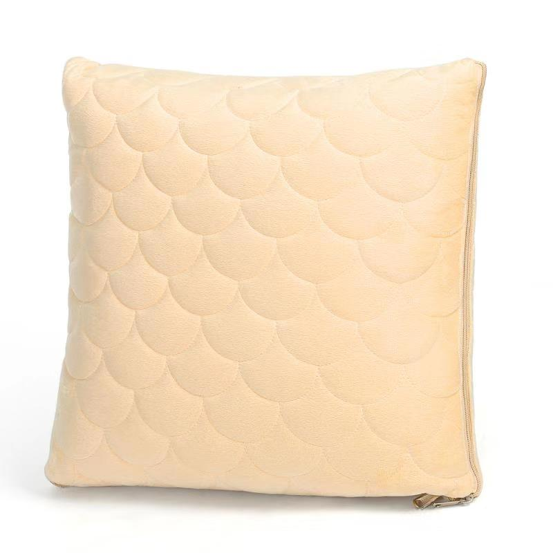 2 in 1 pillow blanket for home and travel beige ht atp01 bg