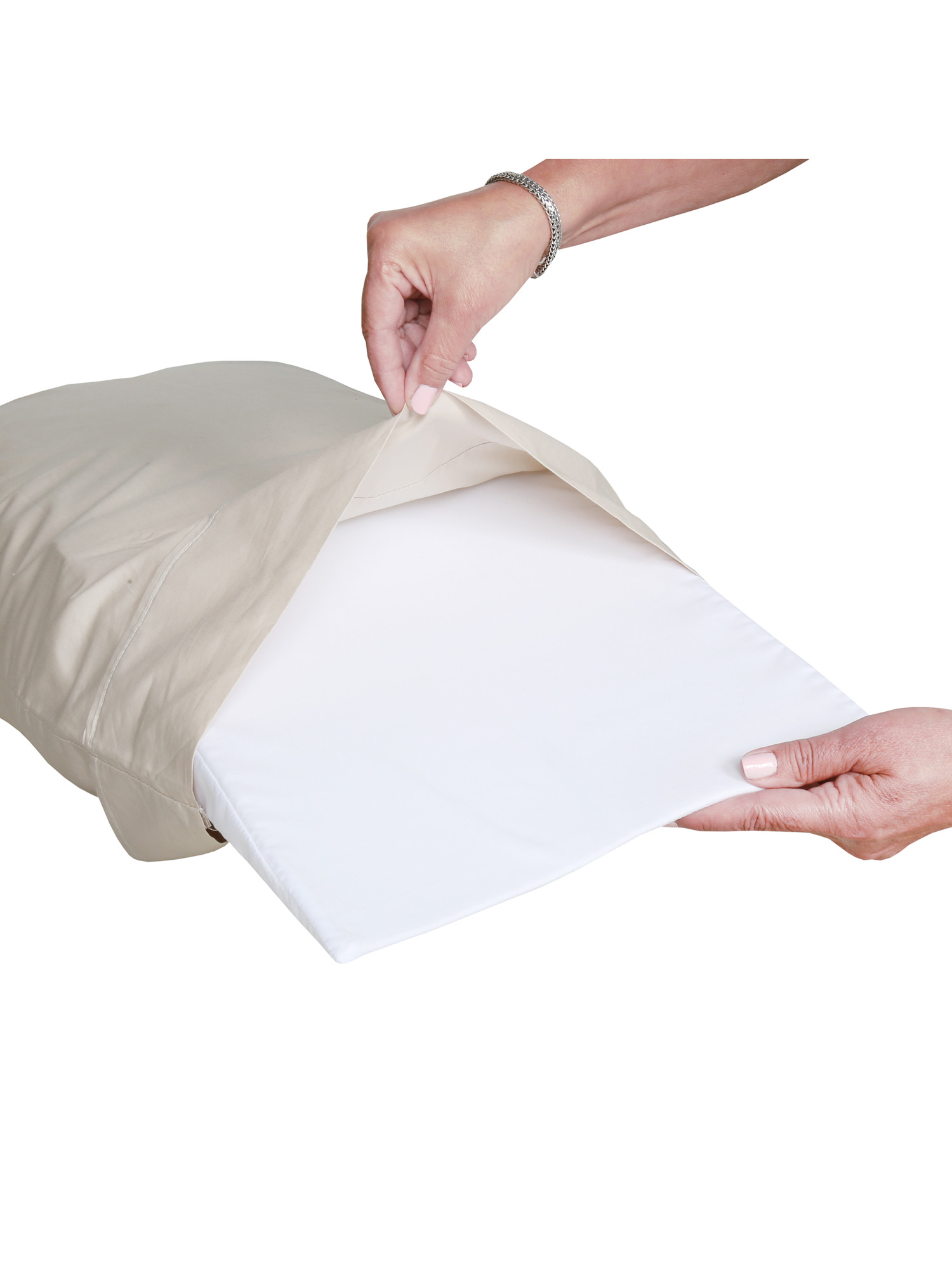 windsor direct distribution silent sleeper anti snore pillow angled cushion promotes clear airway to reduce snoring fits inside pillowcase