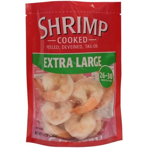 Extra Large Cooked Shrimp 2630 12oz bag Walmartcom