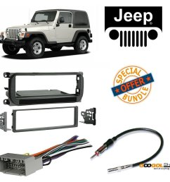 radio stereo install dash kit wire harness and antenna adapter for jeep grand cherokee 02 04 liberty 02 07 wrangler 03 06 walmart com [ 1247 x 1179 Pixel ]