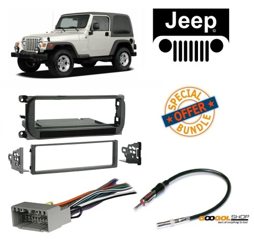 small resolution of radio stereo install dash kit wire harness and antenna adapter for jeep grand cherokee 02 04 liberty 02 07 wrangler 03 06 walmart com