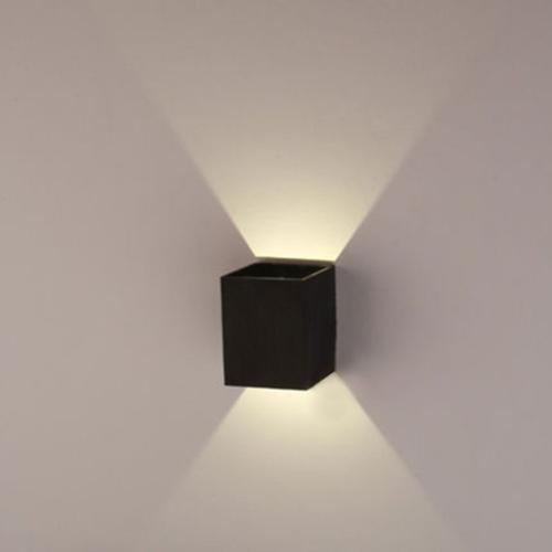 wall fixtures for living room ideas a blank agptek 3w led lamp hall porch walkway light bedroom black walmart com