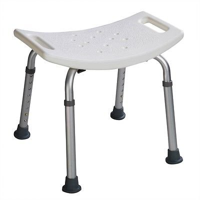 heavy duty aluminum sports chair stokke high cushion instructions 8 height adjustable shower medical bath bench bathtub stool seat white - walmart.com